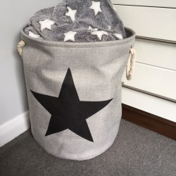 Light grey with black star...