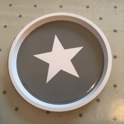Star tray - Grey with white...