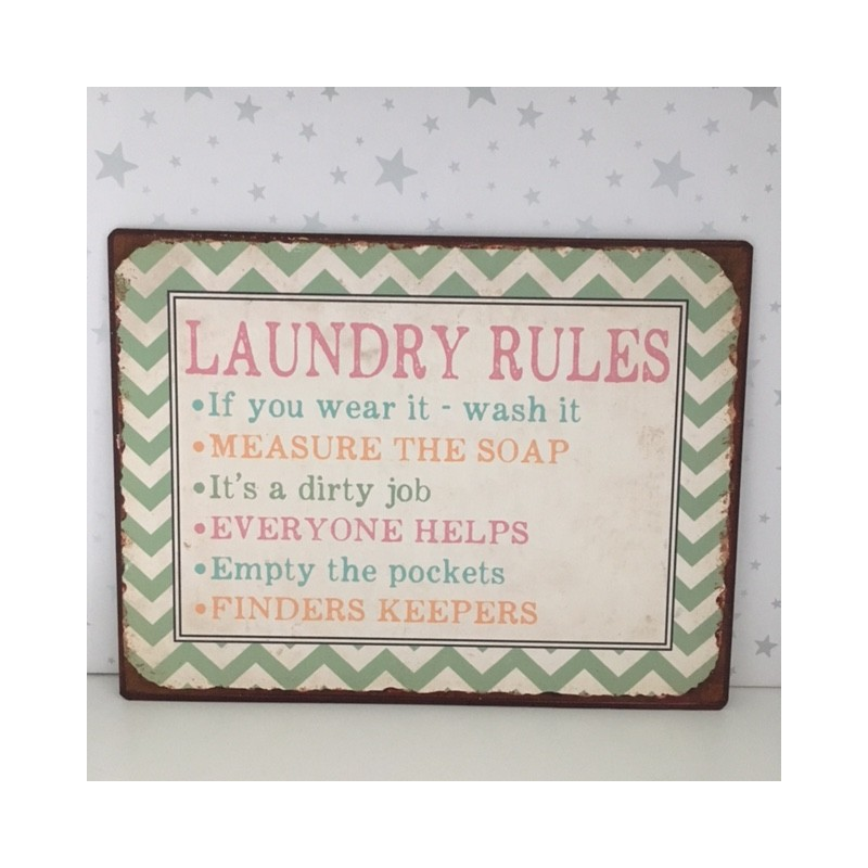 Kitchen Courtesy Signs: Laundry Rules Sign