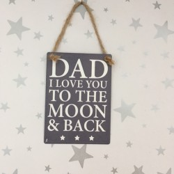 Dad I love you to the moon...
