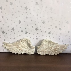 Set of 2 angel wings - Cream