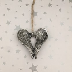 Pretty silver angel wings