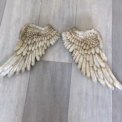 Large silver angel Wings...