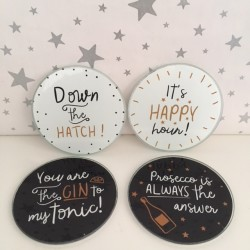 Glass Coasters - set of 4