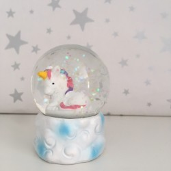 Mini unicorn snow globe -...
