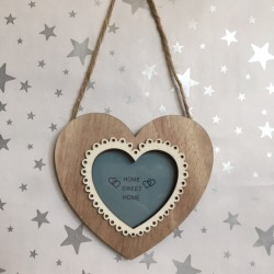 Scalloped edge wooden heart...