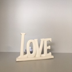 LOVE ceramic candle holder