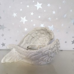 White angel wing tea light...