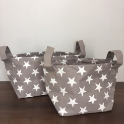 Storage Baskets - Grey with...