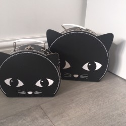 Black cat , set of 2...