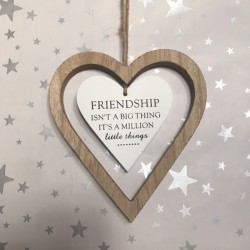Friendship hanging heart