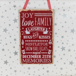 Joy Love Family - wooden sign