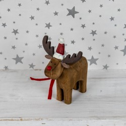 Rustic standing Rudolph