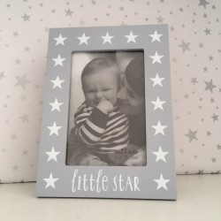 Grey star photo frame -...