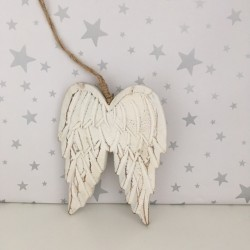 White Wooden Angel Wing