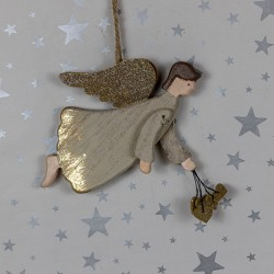 Wooden Hanging Angel