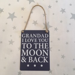 Grandad I love you to the...