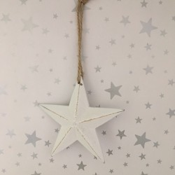 Chunky white hanging star