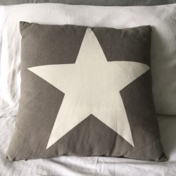 Grey square cushion with...